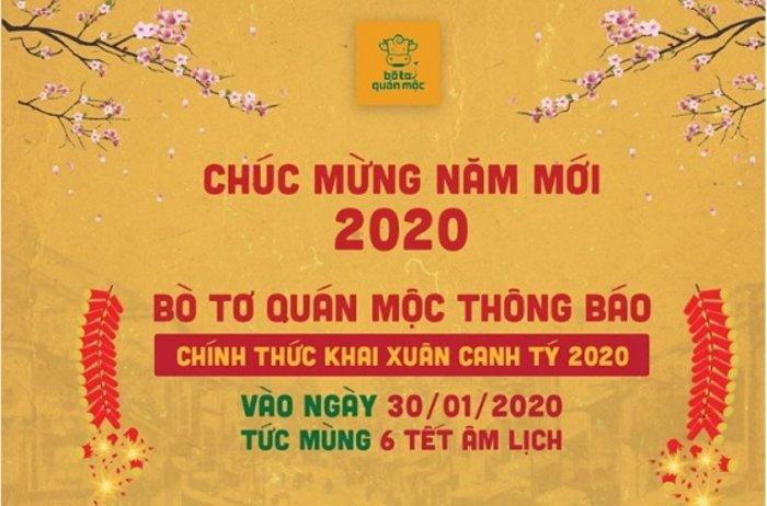 Bò Tơ Quán Mộc chính thức khai xuân 2020 vào mùng 6 Tết
