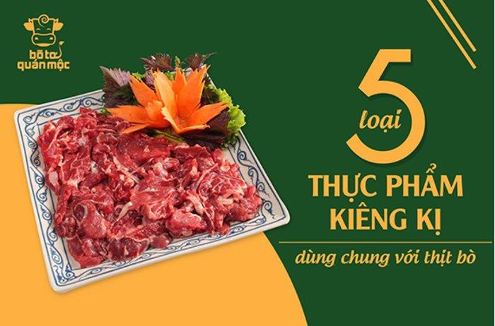 5 loại thực phẩm kiêng kị dùng chung với thịt bò bạn nên biết
