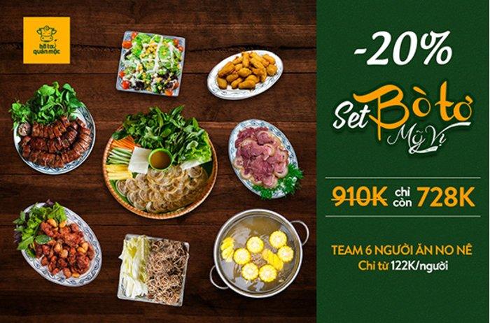 Set Bò Tơ Mỹ Vị - Thưởng trọn tinh hoa ẩm thực Hà Thành