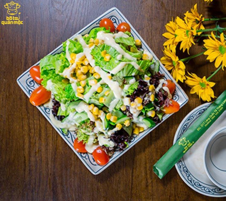 Salad rau trộn sốt chanh leo